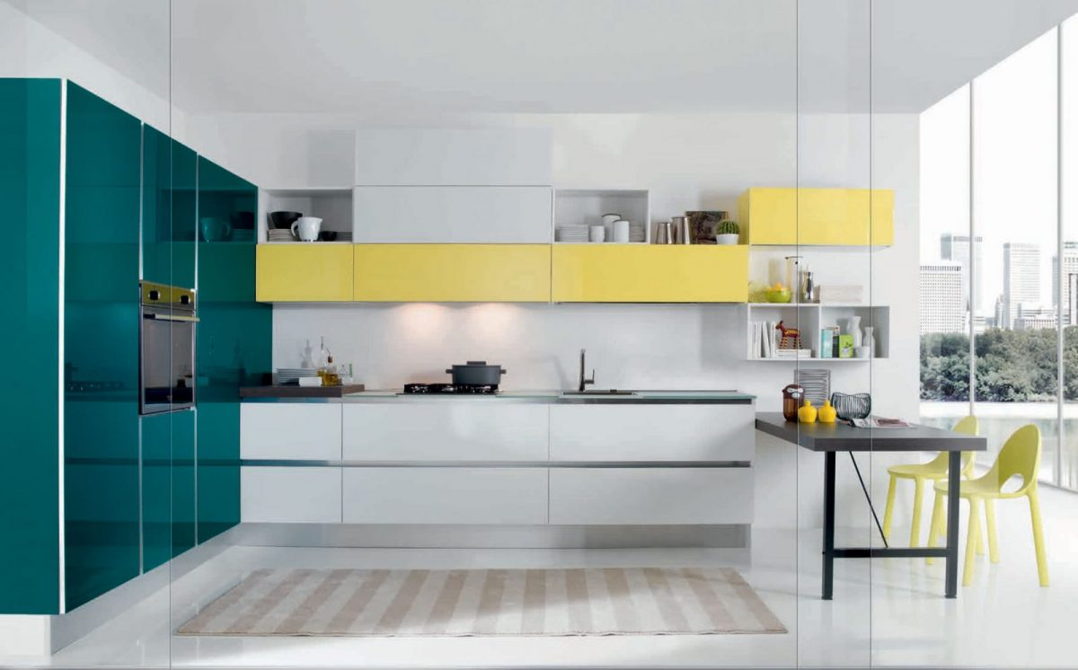 Hans van der Helm Keukens - Italiaans design gewaagde hoogglans kleursteling