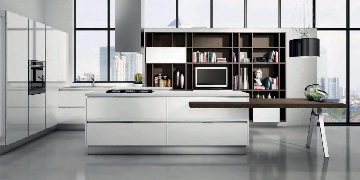 Hans van der Helm Keukens - Italiaans design in uitgebalanceerd bruin en wit